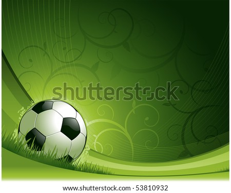 Soccer design background - stock vector