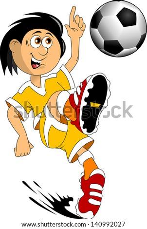 soccer design element; white background, vector-illustration - stock vector