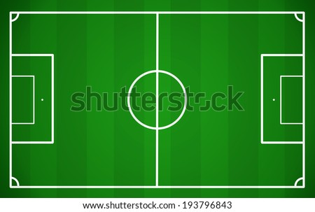Soccer field, vector illustration - stock vector