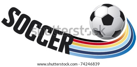 soccer flying ball - stock vector