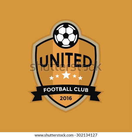 Soccer football badge logo,vector - stock vector