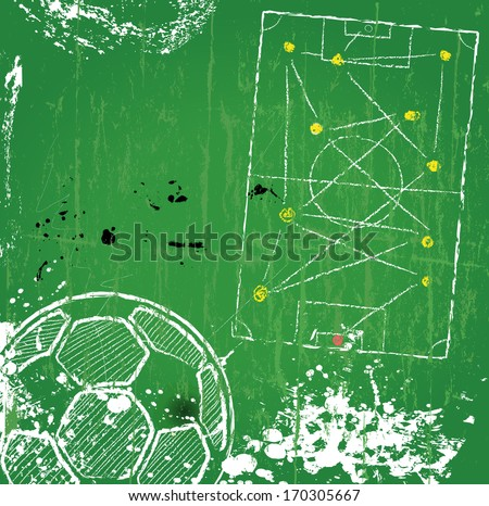 Soccer / Football design template,free copy space, vector  - stock vector