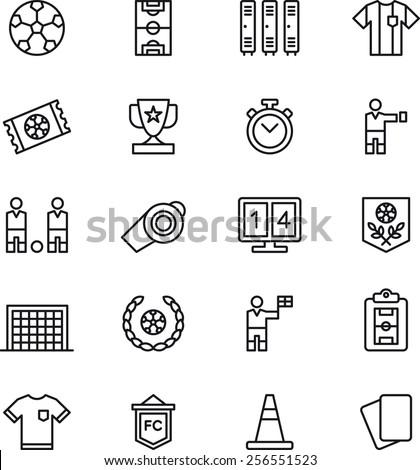 Soccer / Football icon set - stock vector