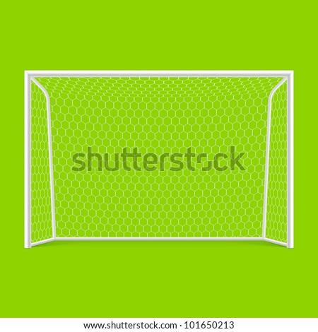 Soccer goal front view. Vector. - stock vector