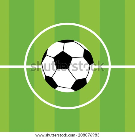 Soccer icon - stock vector