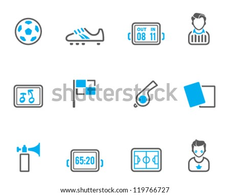 Soccer icon series in  duo tone color style - stock vector