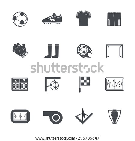 Soccer icons - stock vector