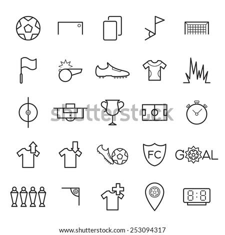 Soccer icons set vector illustration - stock vector