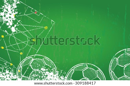 Soccer or Football design template, fictional artwork, free copy space, vector  - stock vector