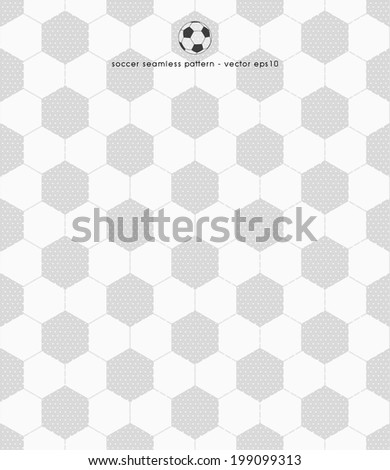 soccer pattern - seamless design vector illustrations - stock vector