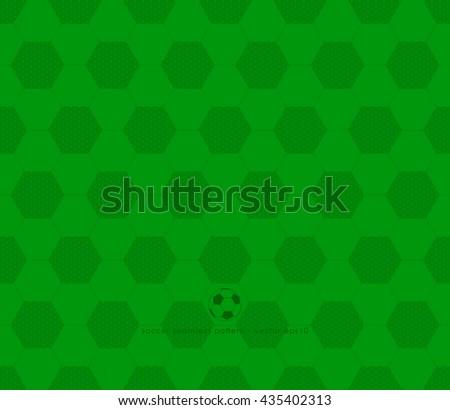 soccer pattern - seamless design vector illustrations - stock vector