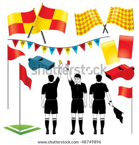 Soccer Referee - stock vector