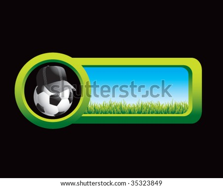 soccer referee ball on outdoor tab - stock vector