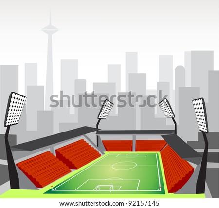 Soccer Stadium - stock vector