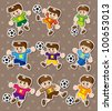 soccer stickers - stock vector