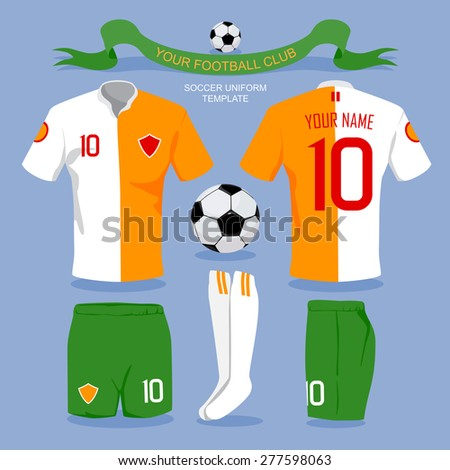 Soccer uniform template for your football club, illustration design. - stock vector