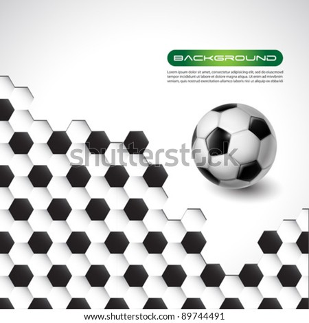soccer vector banner background - stock vector