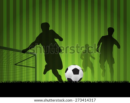 Soccer with Players in silhouette design, element for design, vector illustration - stock vector