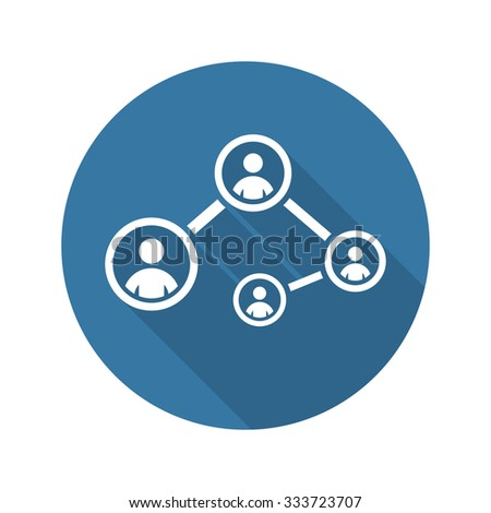 Social Connections Icon. Flat Design. Isolated Illustration. - stock vector