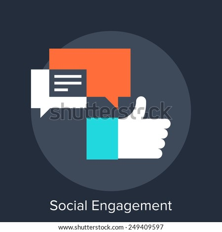 Social Engagement - stock vector