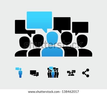 Social group - stock vector