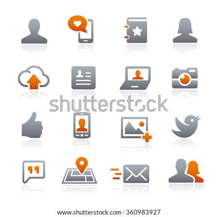 Social Icons // Graphite Series - stock vector