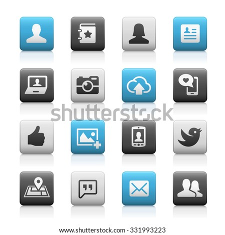 Social Icons // Matte Series - stock vector
