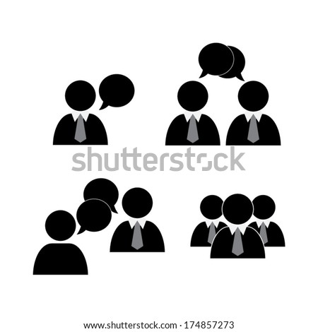 Social icons - vector - stock vector
