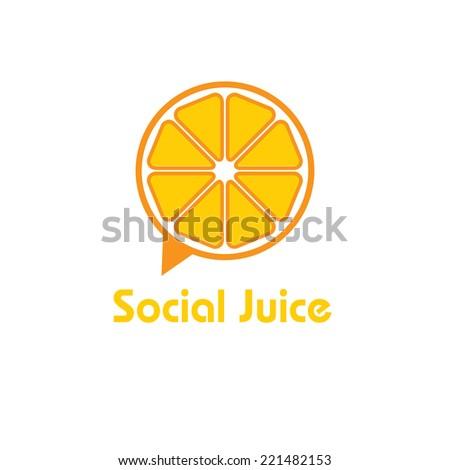 social juice concept vector design template - stock vector