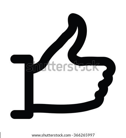 Social Like Bold Line Vector Icon - stock vector