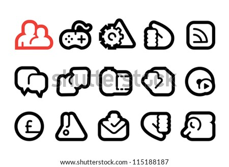 Social Media Apps Icons - stock vector