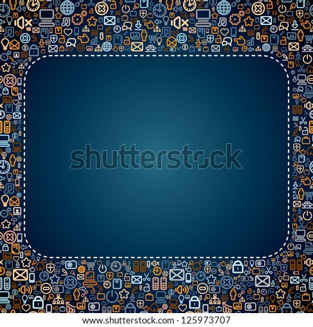 Social Media Background with Space for Text. Seamless Vector - stock vector