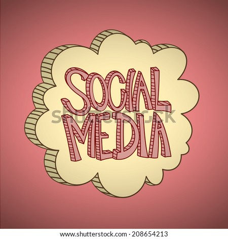 Social Media Cloud - stock vector