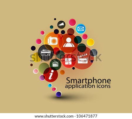 social media, communication in the computer networks - stock vector