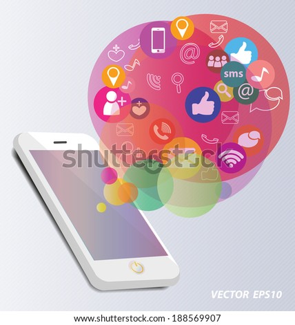 Social media concept vector Illustration - stock vector
