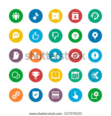 Social Media icon  - stock vector