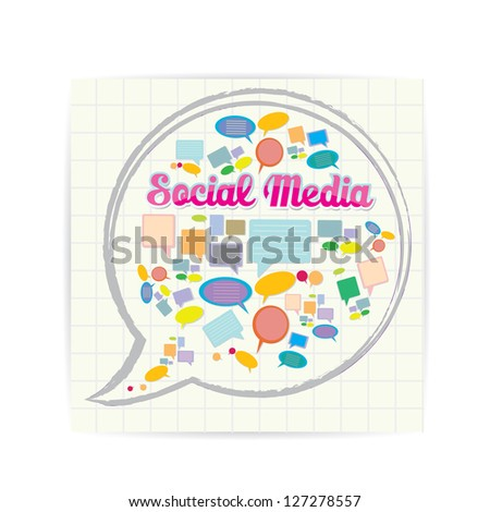 Social media icon. social media marketing abstract concept. network background. - stock vector