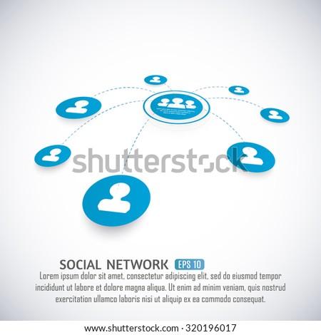 Social Media Network concept. Vector Eps10. - stock vector