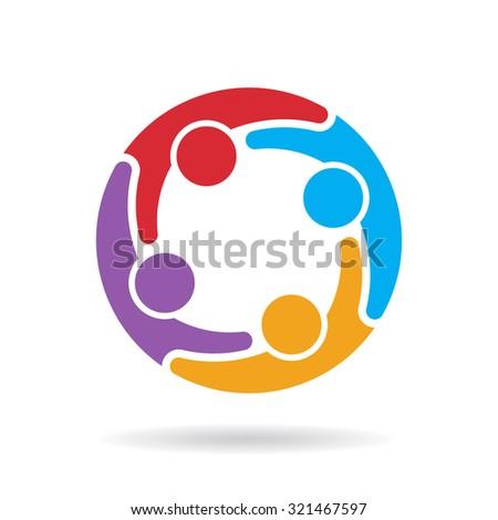 Social media network logo - stock vector