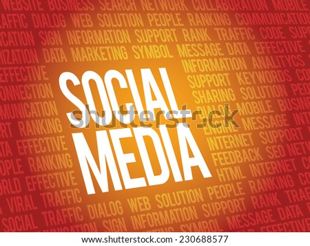 Social media,social network concept, vector background - stock vector