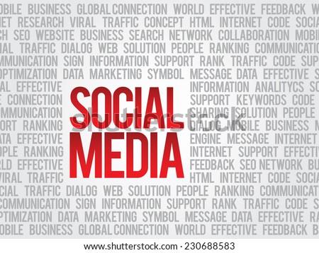 Social media,social network concept, vector background - stock vector