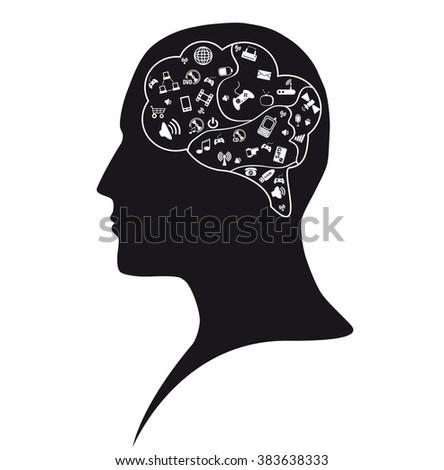 Social mind - stock vector