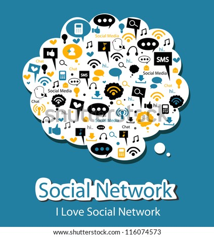 social network - stock vector