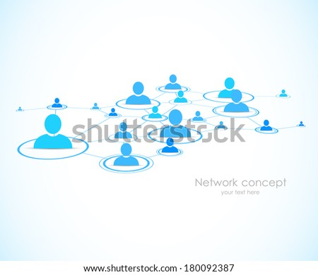 Social network background - stock vector