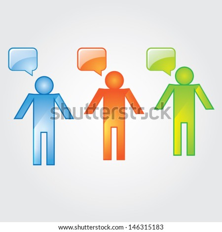 social network, communication in the global computer network - stock vector