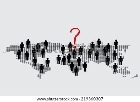 Social Network concept : People cut out of paper, vector illustration. - stock vector
