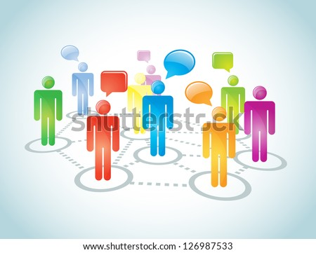 Social network connection abstract representation. It contains overlay blend mode. No mesh or transparencies. EPS 10 vector file. / Network Connection - stock vector