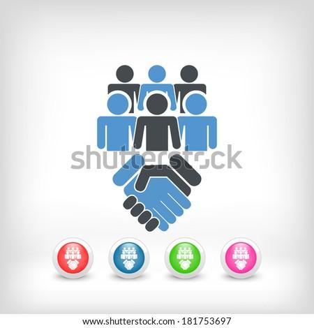 Social network icon concept - stock vector