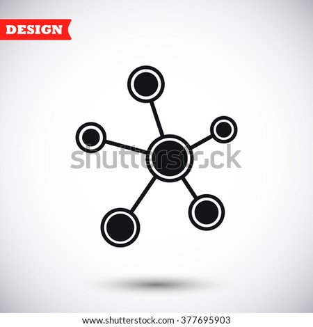 Social network icon, Social network pictograph, Social network web icon, Social network icon vector, Social network icon eps, Social network icon illustration, Social network icon picture - stock vector