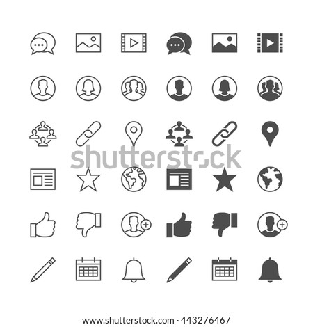 Social network icons, included normal and enable state. - stock vector